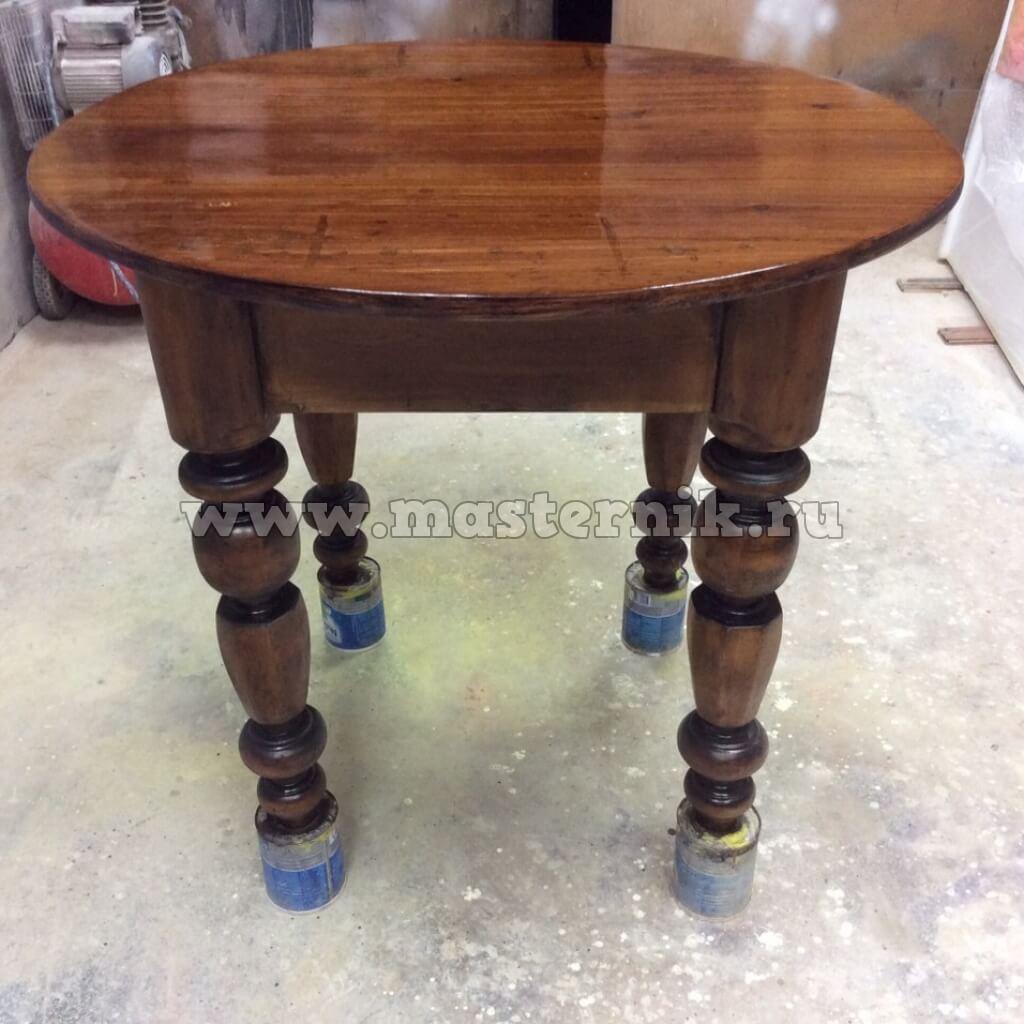 Деревянный стол реставрация своими руками 121